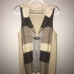 Pattern sleeveless sweater